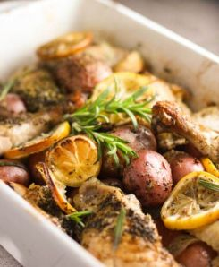 Lemon Chicken with Potatoes & Rosemary