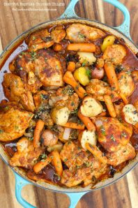 One Pot Paprika Chicken Thighs