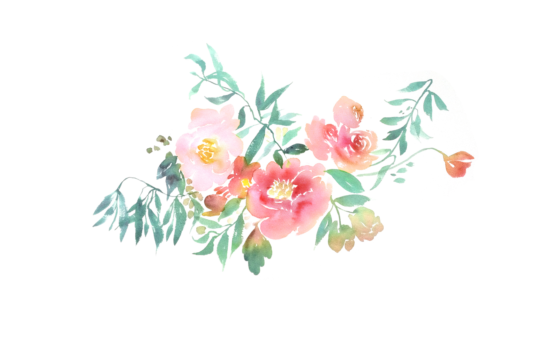 Most Inspiring Wallpaper Home Screen Rose Gold - watercolorflora2_by_juliesongink1  Pictures_77436.jpg